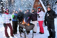 snowmobiling tours golden guides and team