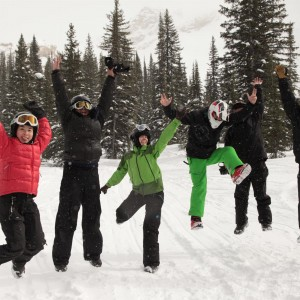 Snowmobile Tour Golden BC is tons of fun for groups
