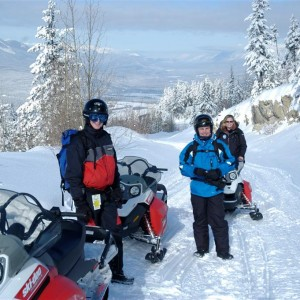 Group Snowmobile Day Golden BC