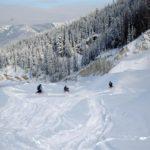 snowmobile in Banff
