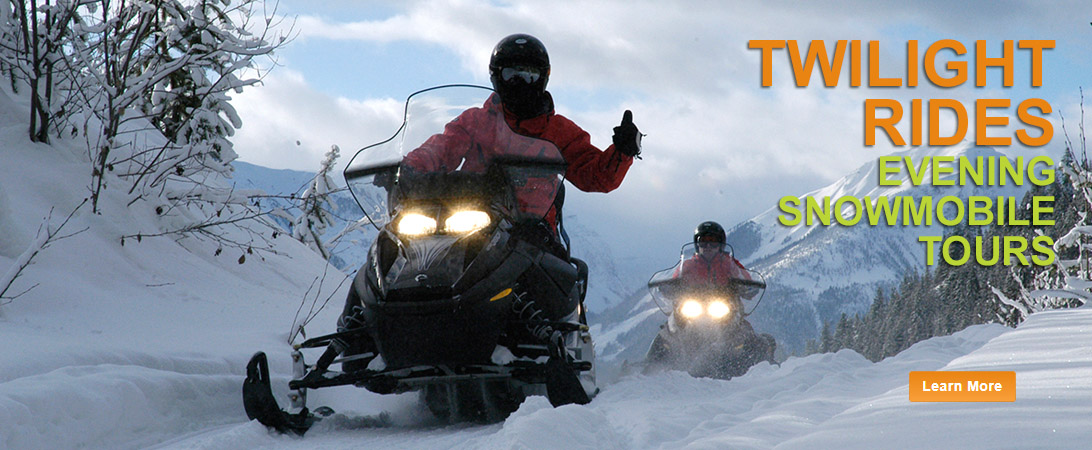 twilight snowmobile tours