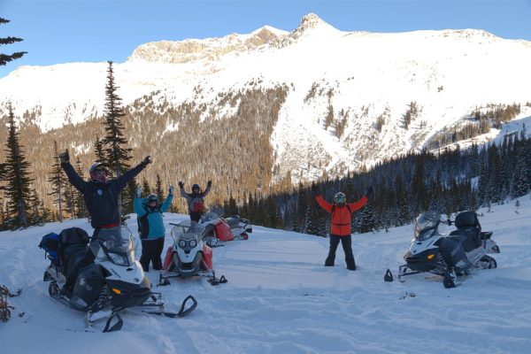 snowmobile tours golden bc