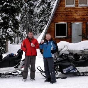 snowmobiling banff