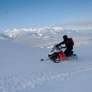 Golden BC backcountry snowmobile tour