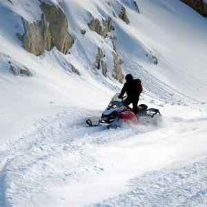 Snowmobiling Golden BC