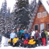 The old trappers cabin you see on your snowmobile tour in golden