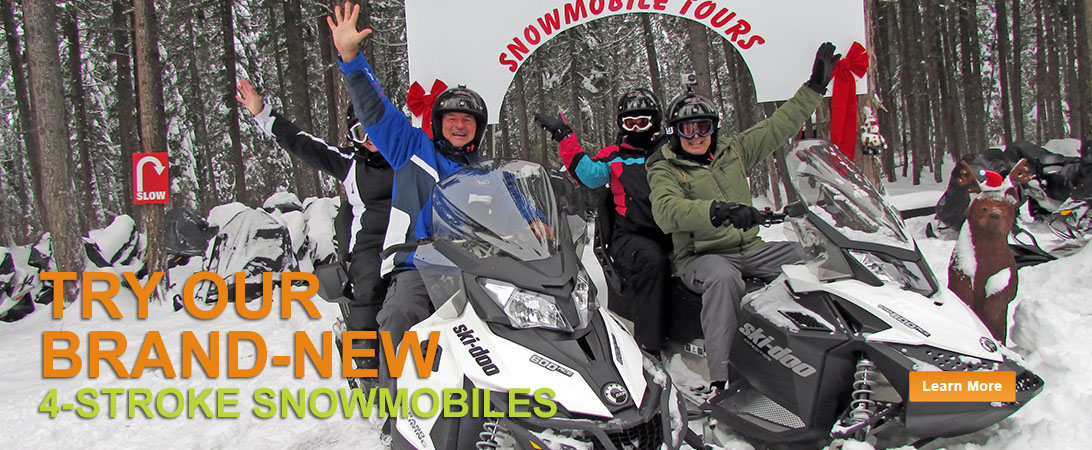 Banff and Golden snowmobile tours