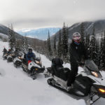 snowmobile guide on tour