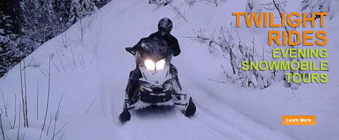 twilight snowmobile tour