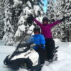 Snowmobile Tour Guests having Fun!