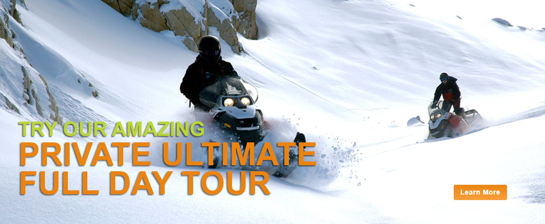 Private Full Day Snowmobile Tour