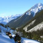 snowmobile tour in golden british columbia canada