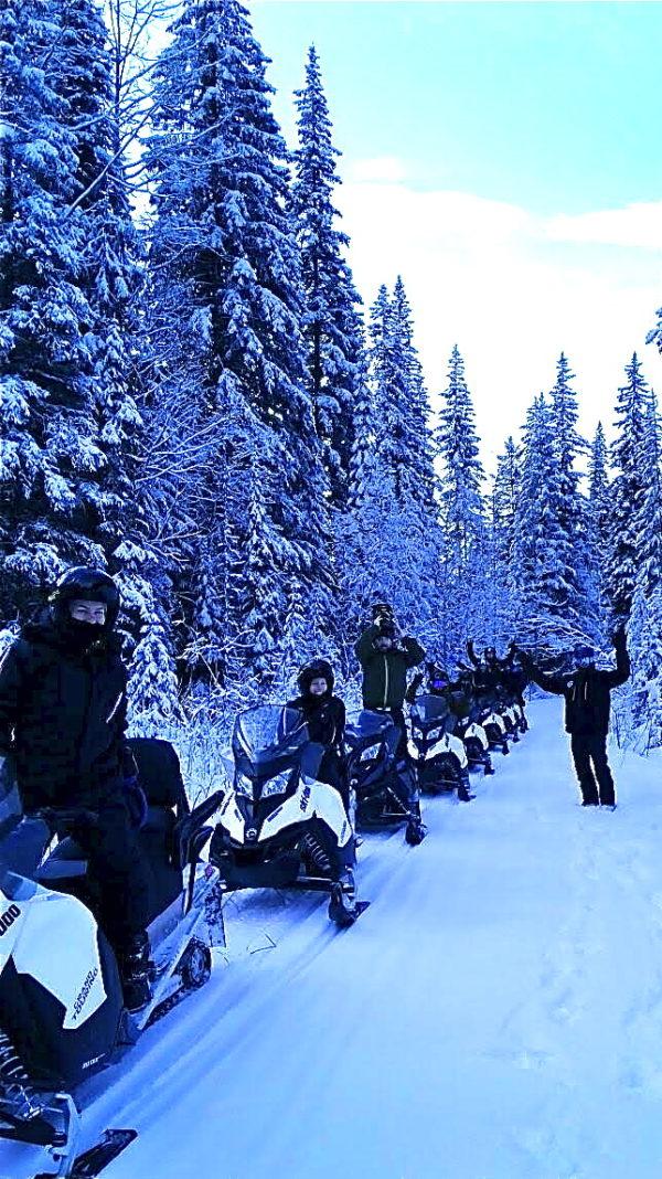 group ride sledding golden