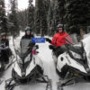 snowmobile tour guests